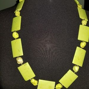 Lime Green Turquoise Necklace